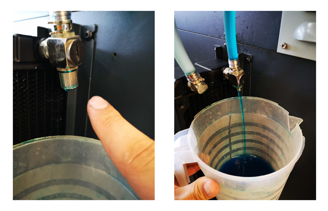 Drain coolant using the bleed valve