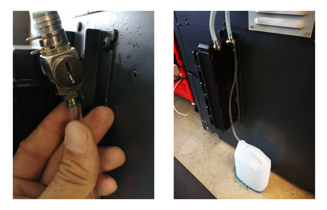 Attach tubing to the bleed valve.
