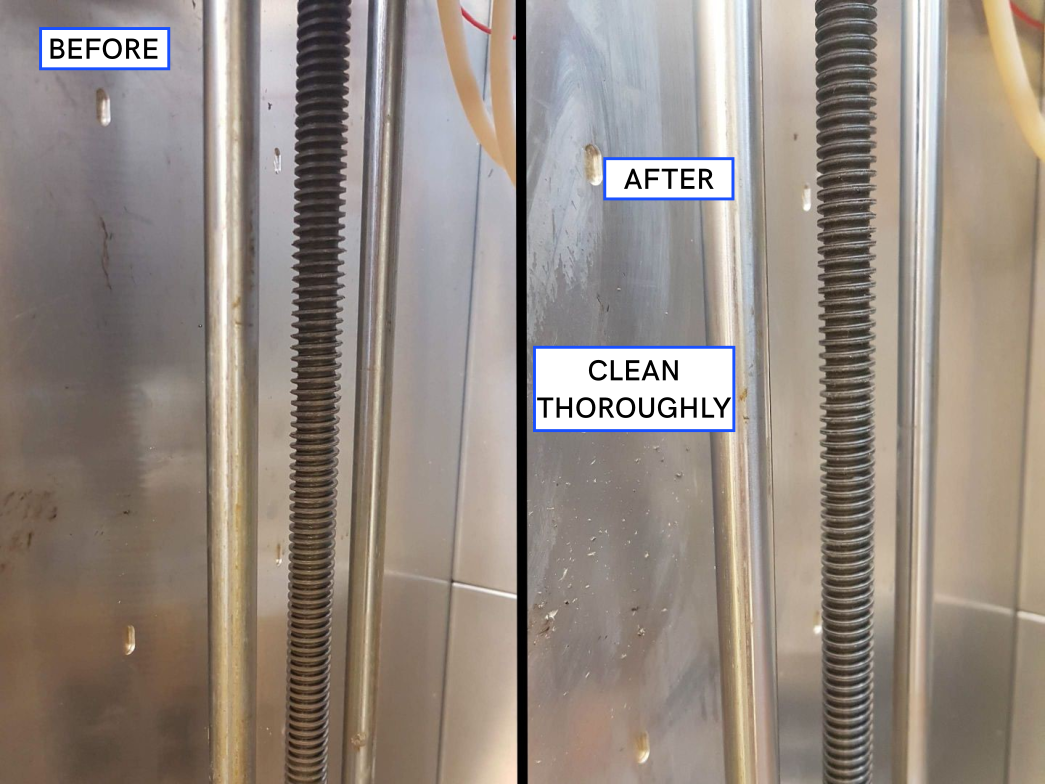 Z-Axis - Before and After Cleaning
