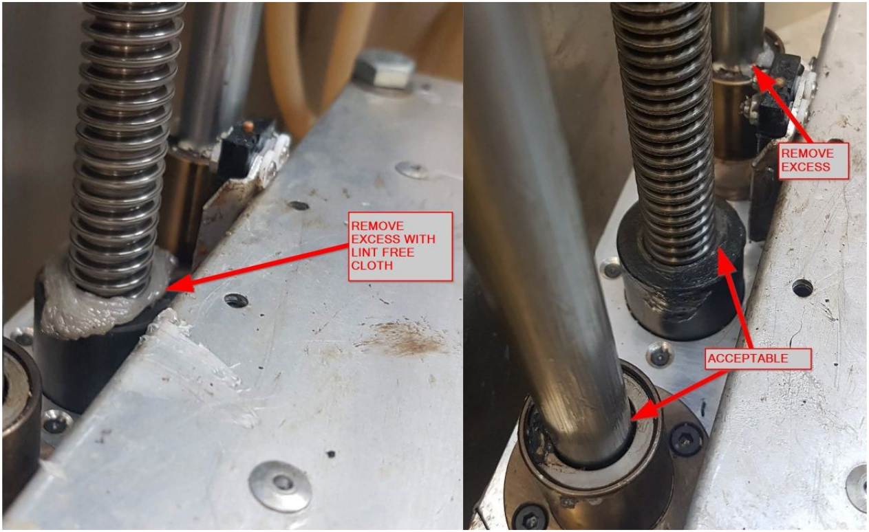 Z-Axis - Remove Accumulated Grease