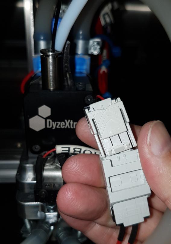 Unplug heater cartridge connector