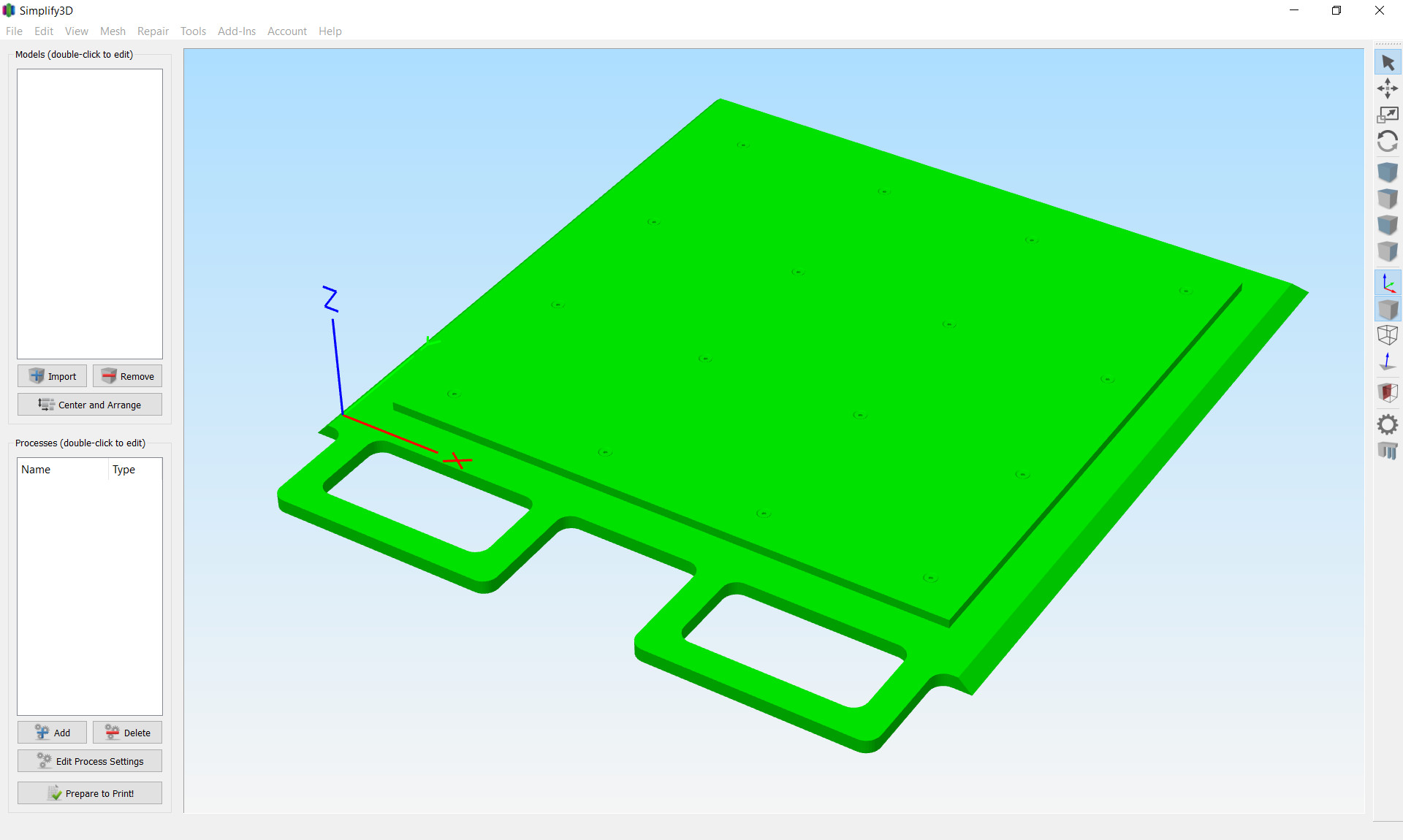 Build Plate in S3D