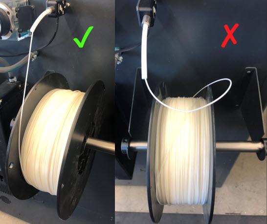 Filament Roll Orientation