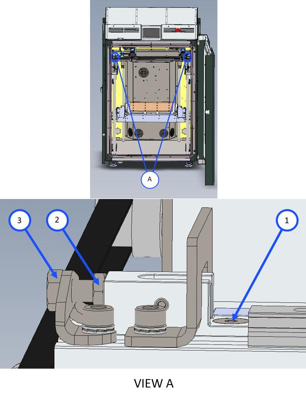 Adjust X-Axis Belt Tension