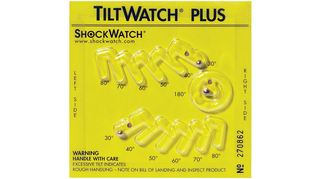 TiltWatch® Plus Indicating no Tilt Greater than 30-Degrees